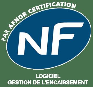 NF par AFNOR certification - logiciel de gestion d'encaissement